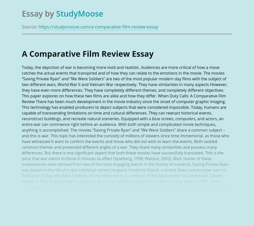 A Comparative Film Review
