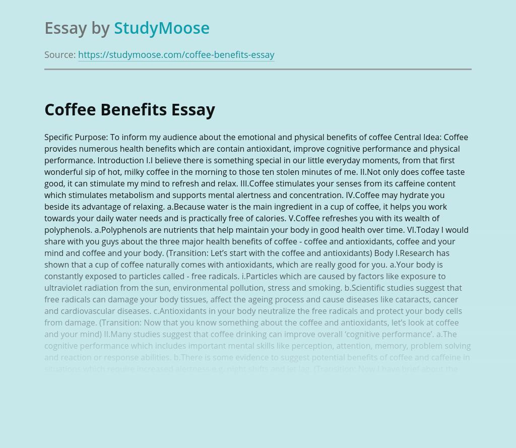 free essays on caffeine
