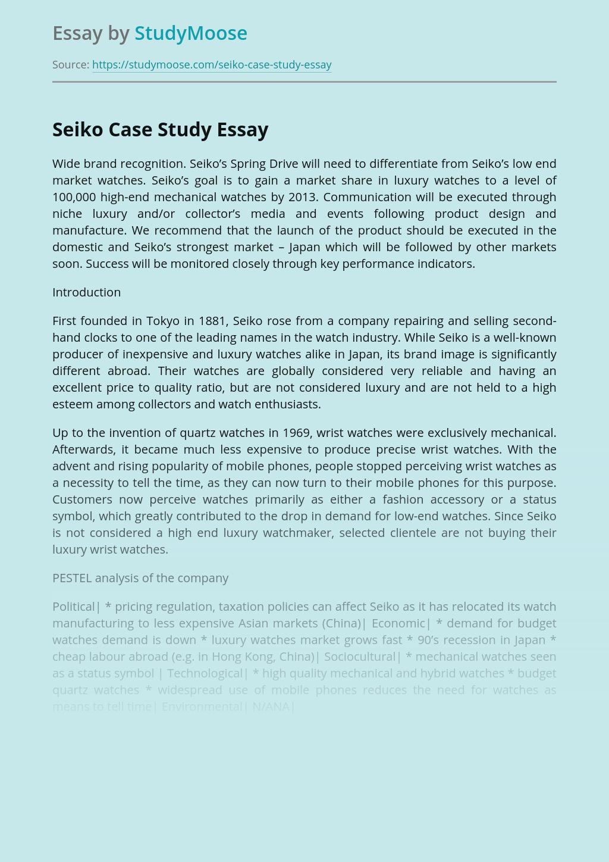 Seiko Case Study