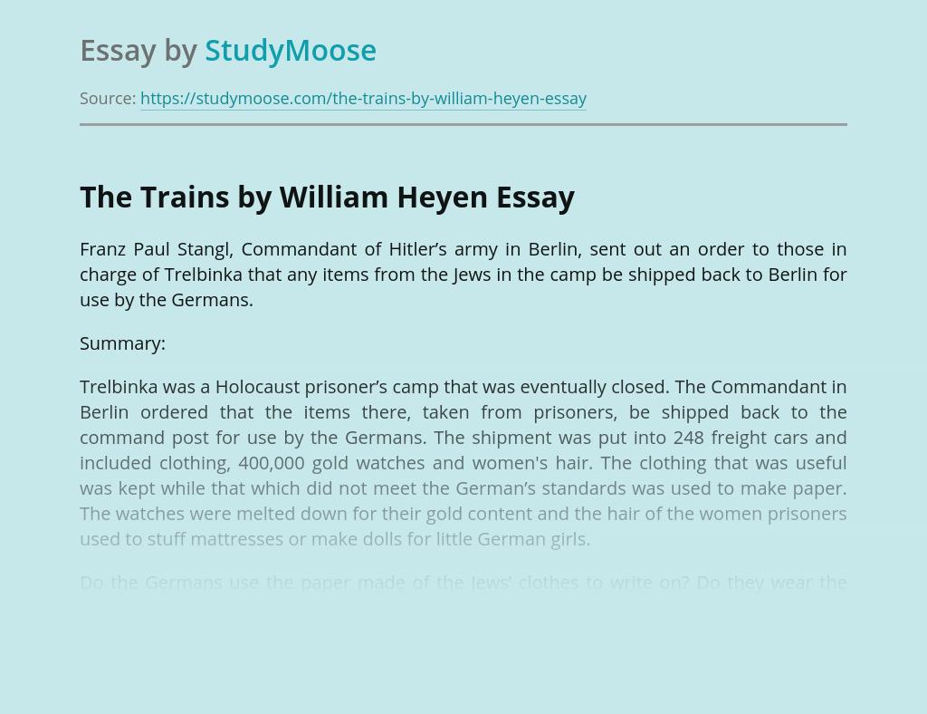 The Trains by William Heyen