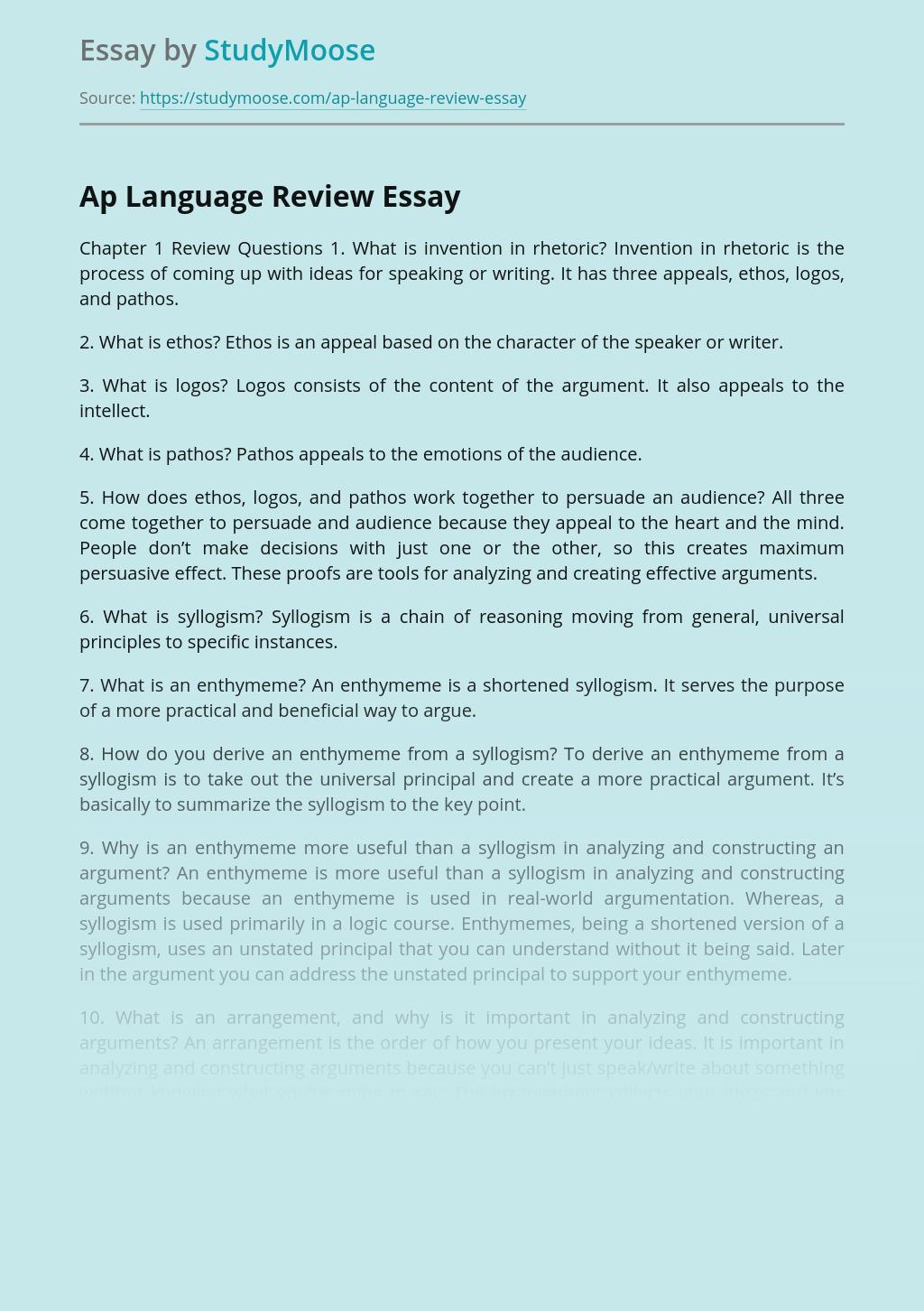 Ap Language Review