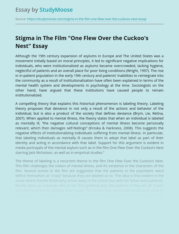 "Stigma in The Film ""One Flew Over the Cuckoo's Nest"""