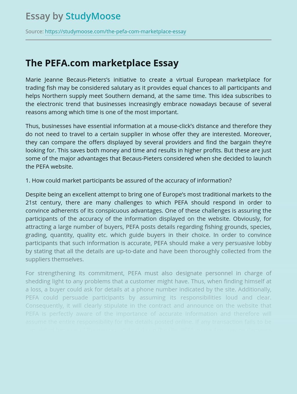 A Virtual European Marketplace