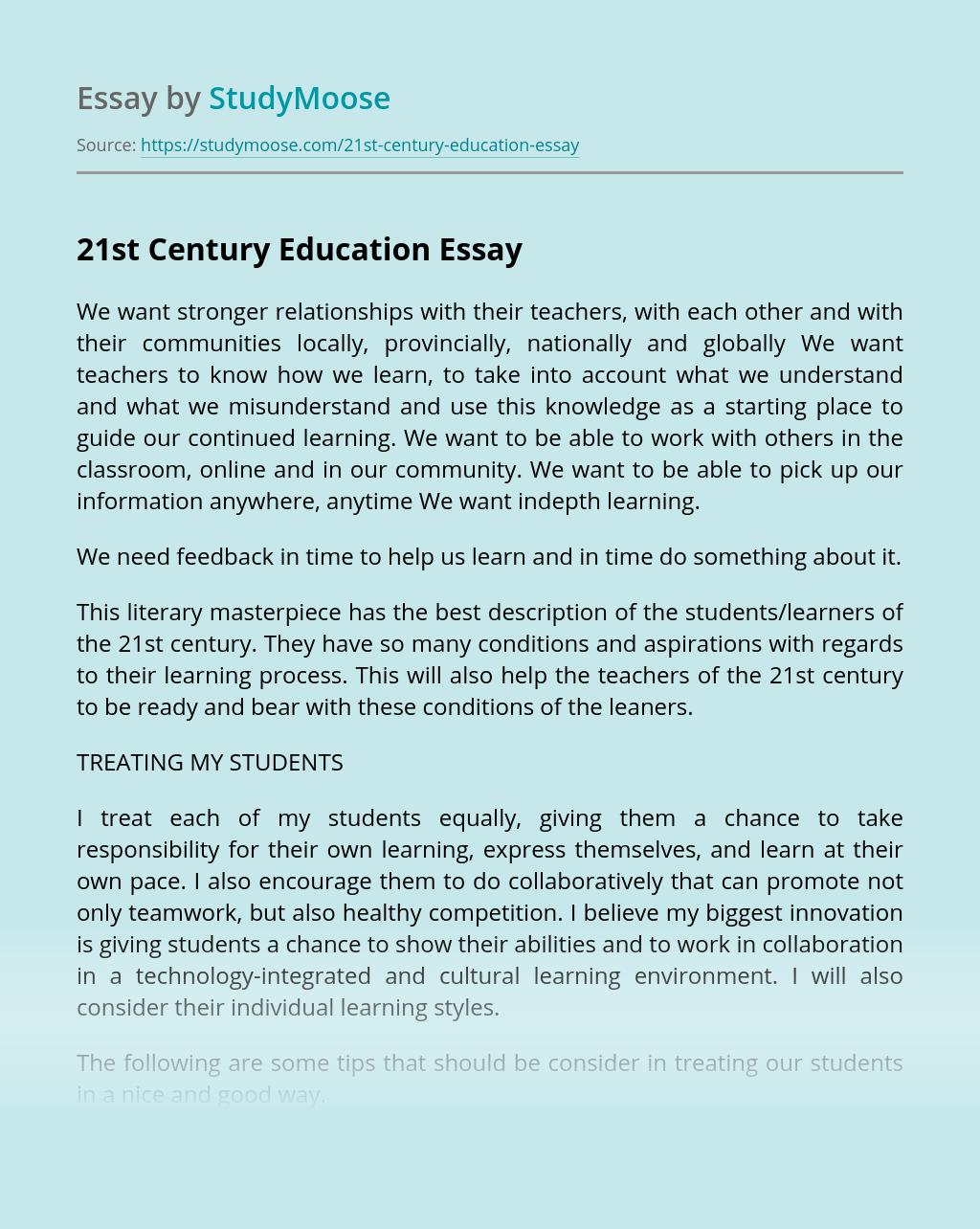 essay on technology in 21st century