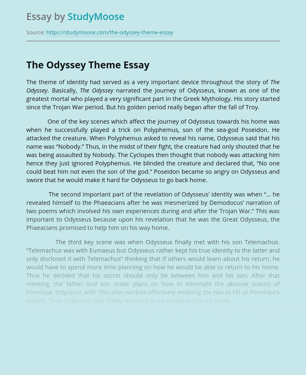 The Odyssey Theme