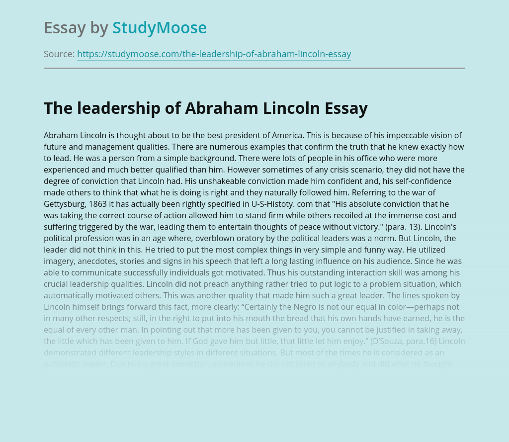 buy best creative essay on lincoln