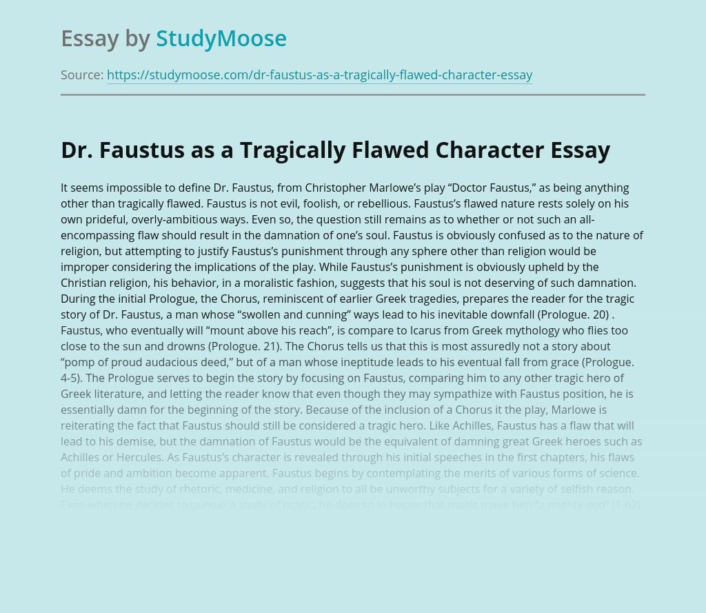 Doctor Faustus (Marlowe) Essays | GradeSaver
