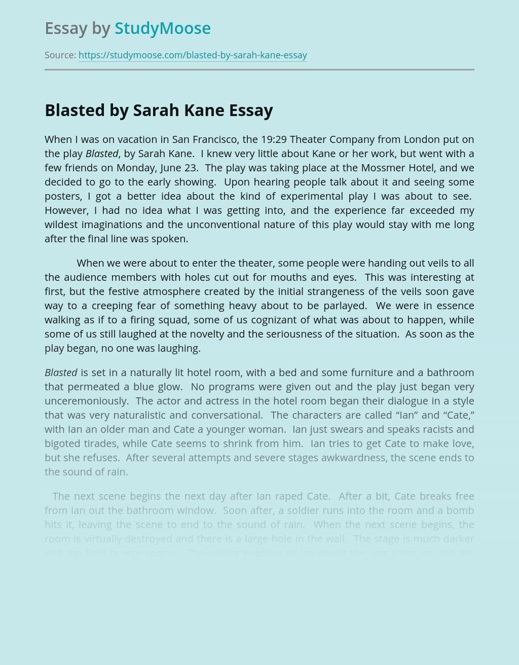 Blasted by Sarah Kane