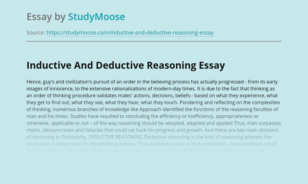Deductive Reasoning as Scientific Method