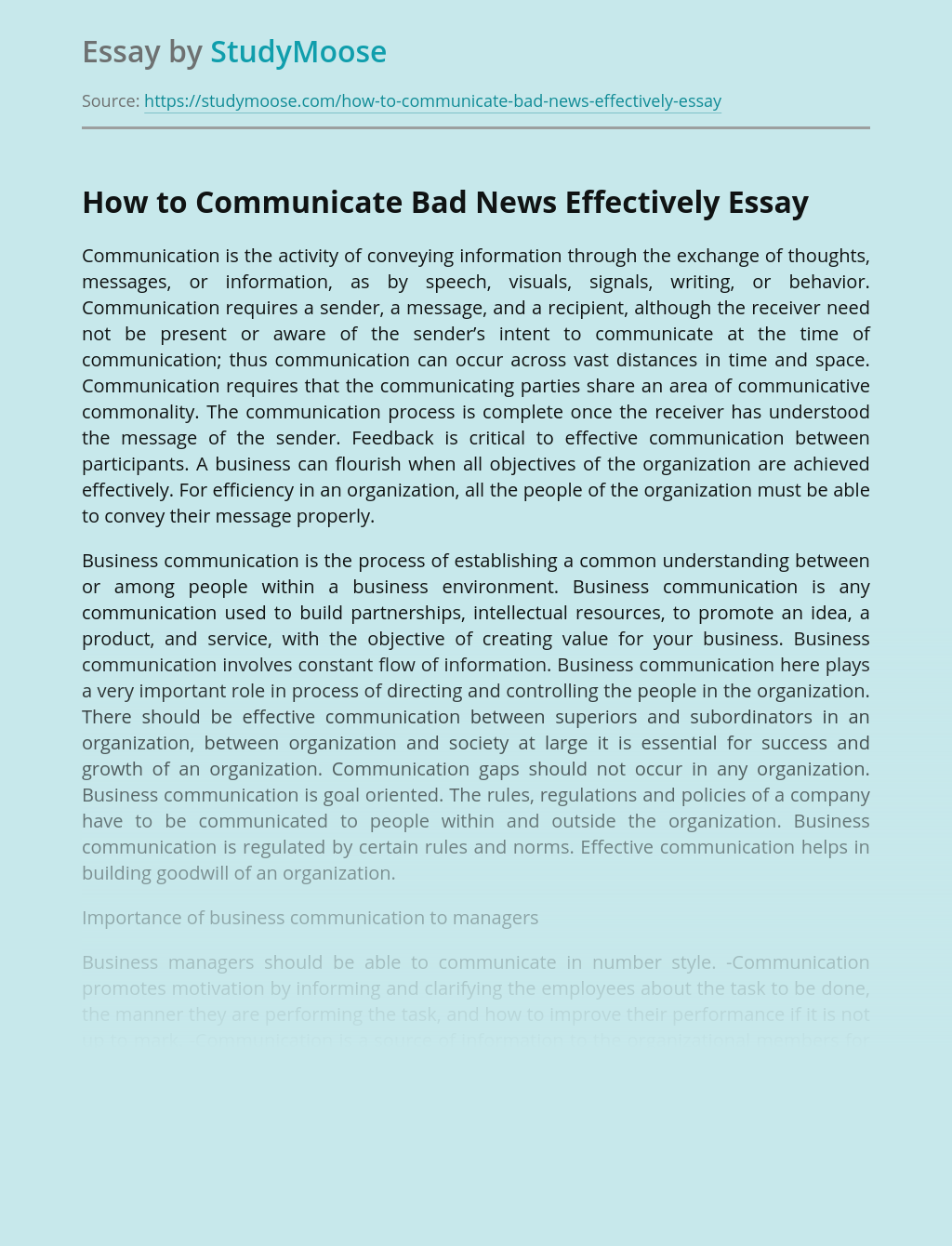 How to Communicate Bad News Effectively