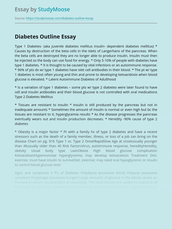 Diabetes Outline