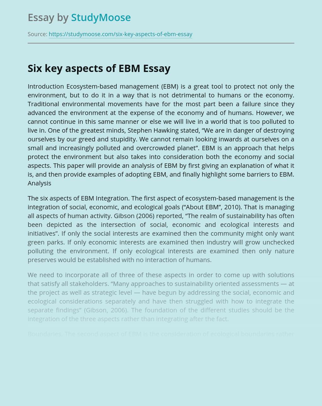 Ecosystem-Based Management