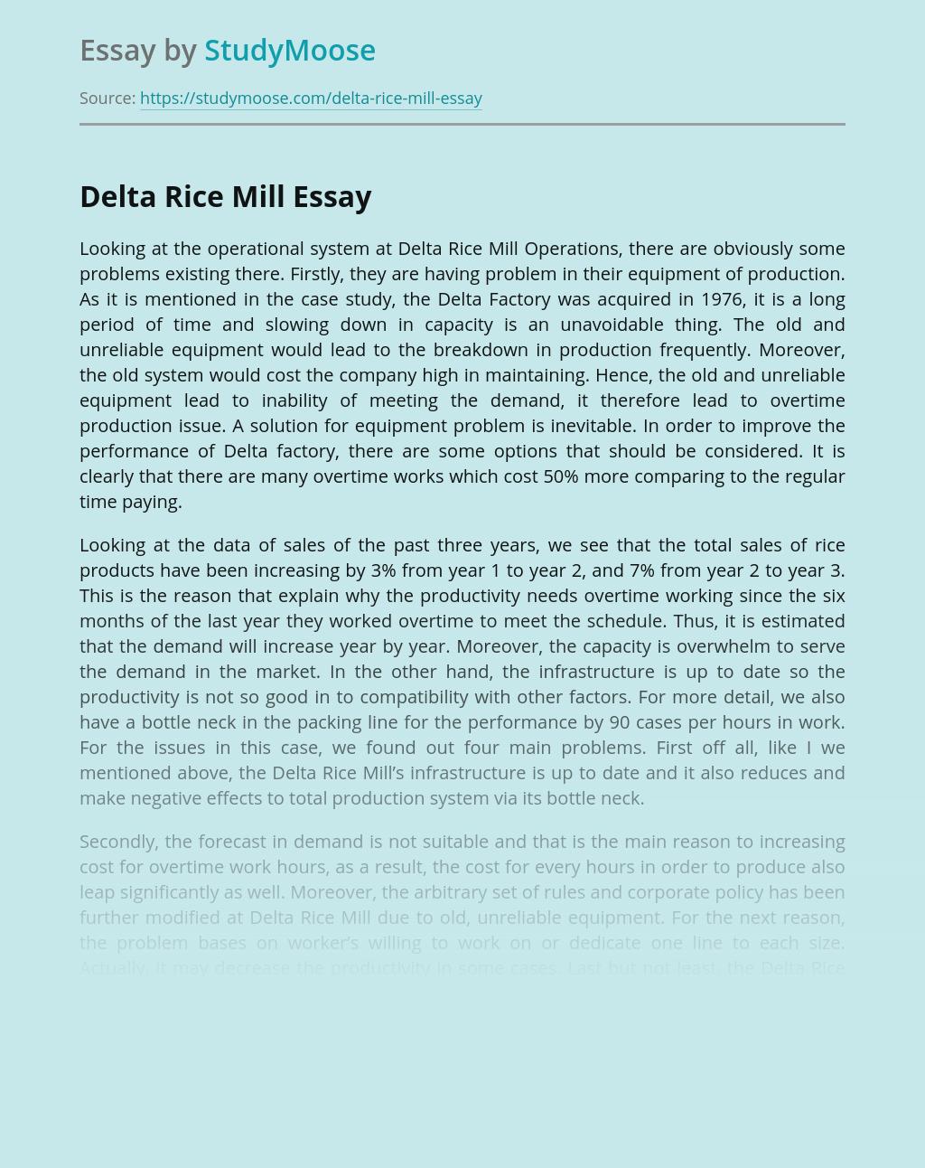 Delta Rice Mill