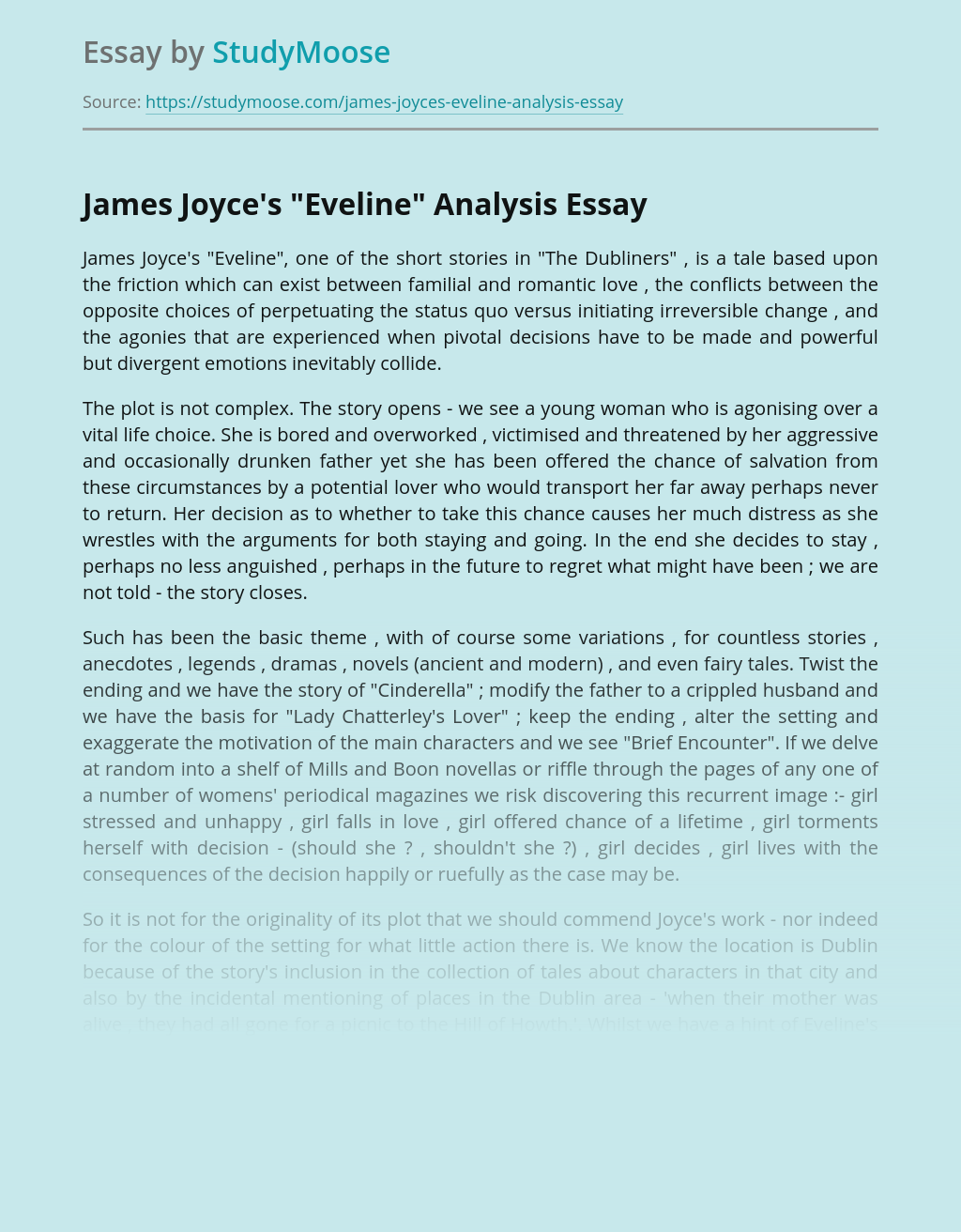 Contrasting and comparison essay