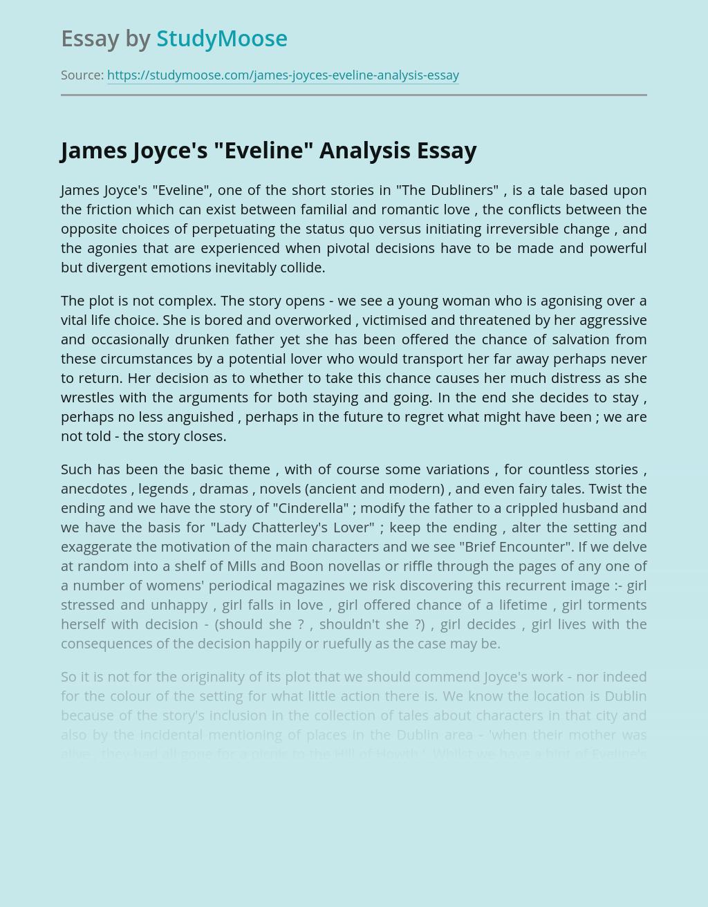 Analysis of James Joyce's Short Story