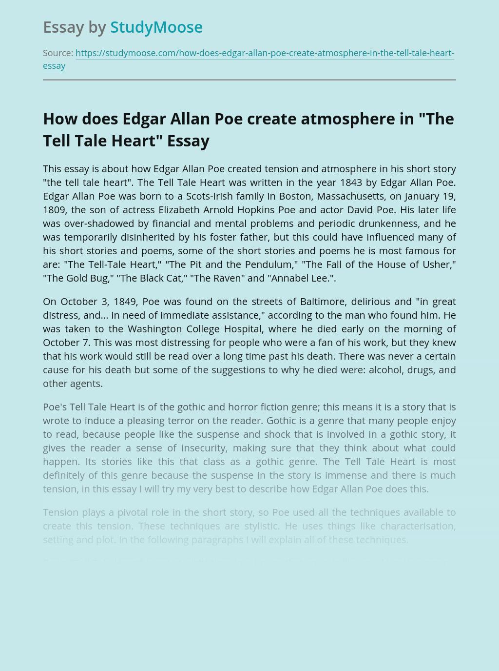 How does Edgar Allan Poe create atmosphere in