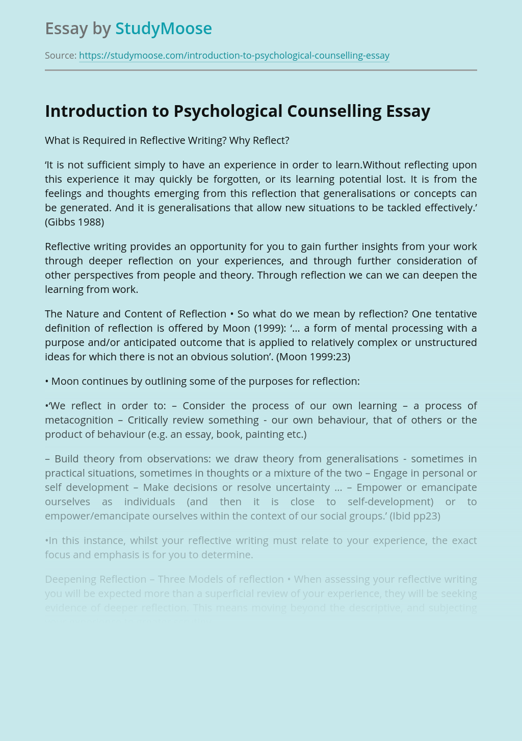 Introduction to Psychological Counselling