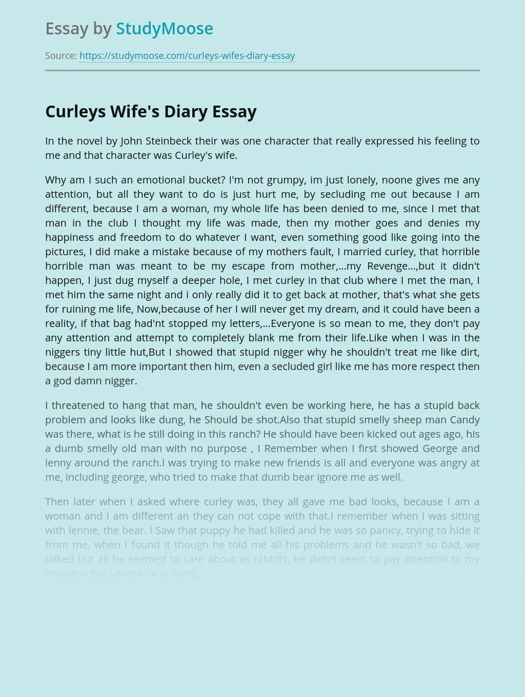 Curleys Wife's Diary