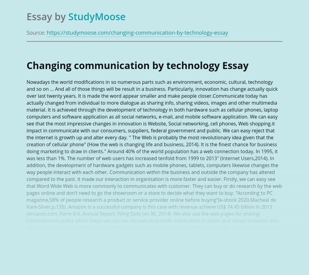 Changing communication by technology