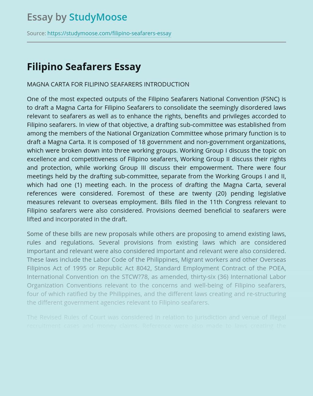 Filipino Seafarers