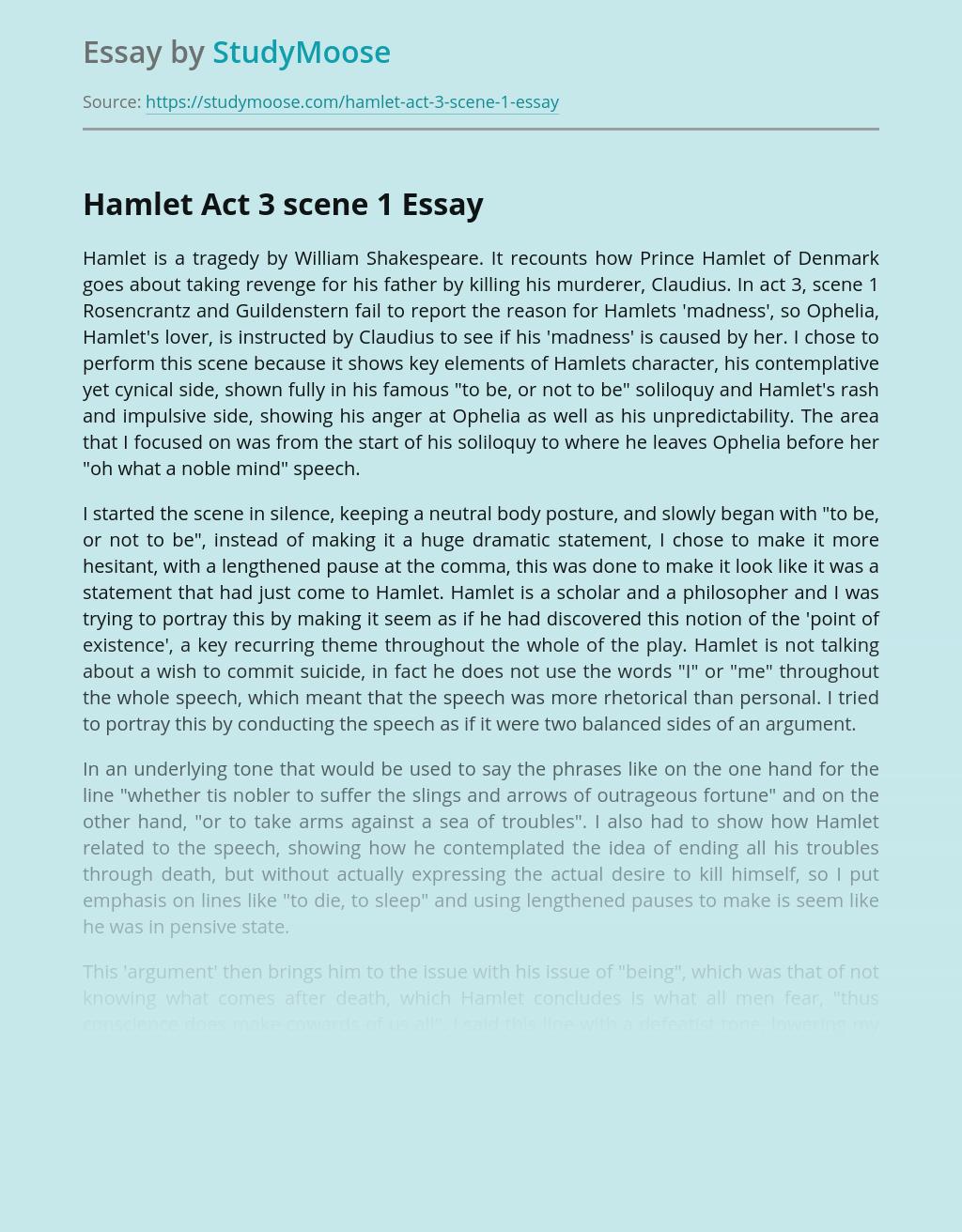 Hamlet Act 3 scene 1