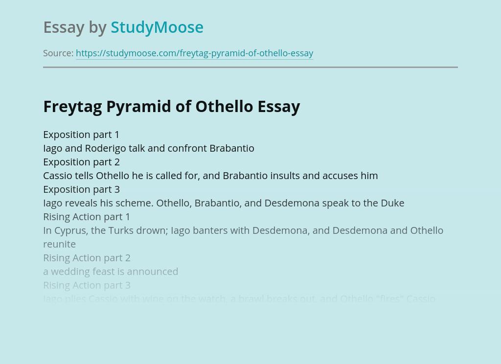 Freytag Pyramid of Othello