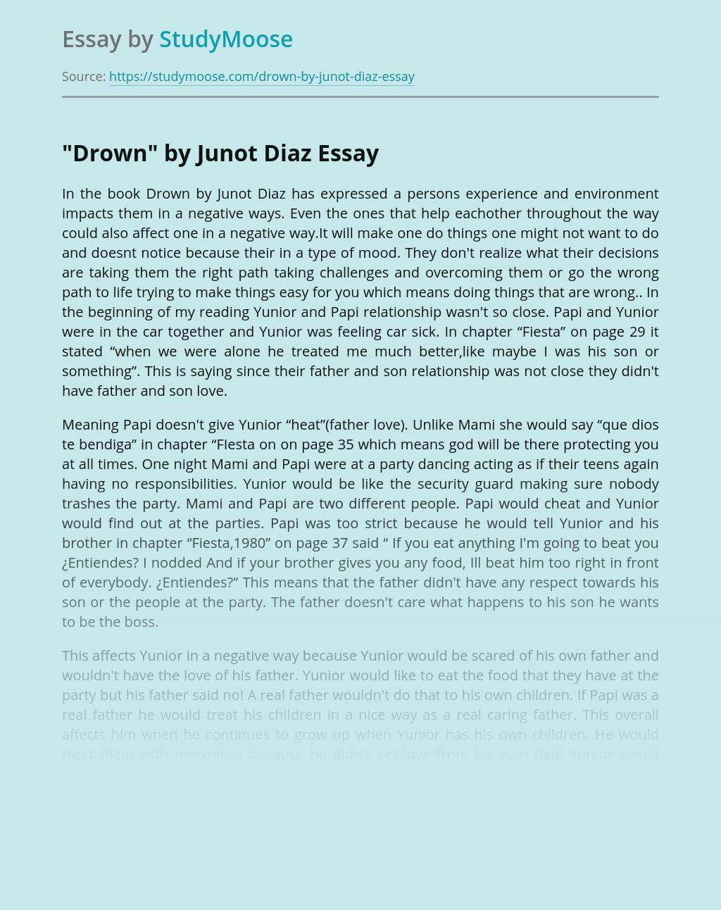 """""""Drown"""" by Junot Diaz"""