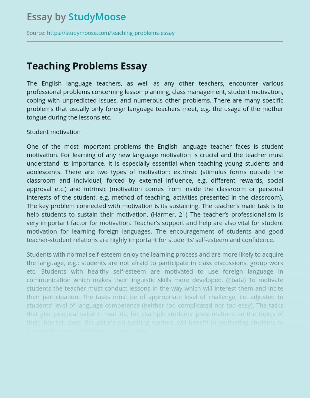 Teaching Problems