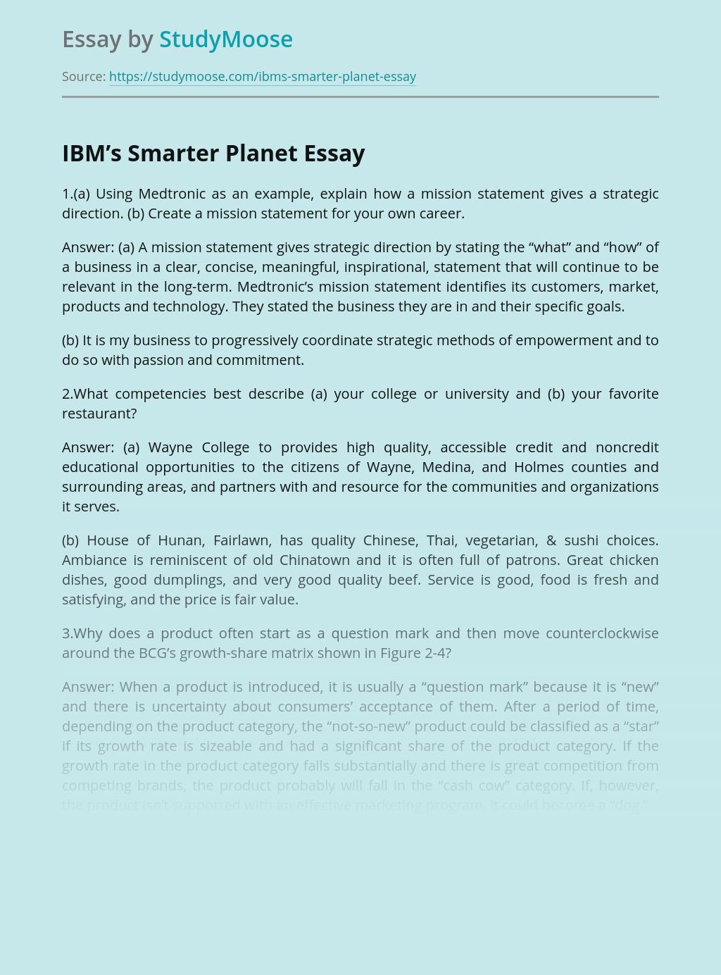 IBM's Smarter Planet
