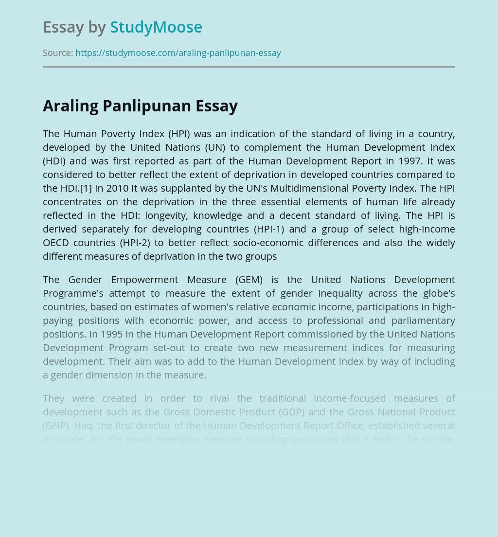 Araling Panlipunan in Philippines