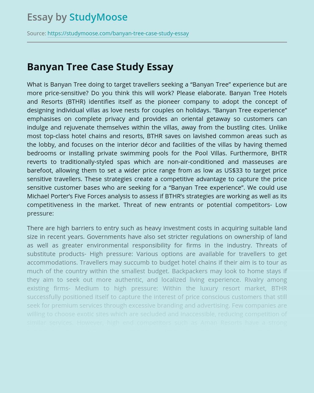 Banyan Tree Case Study