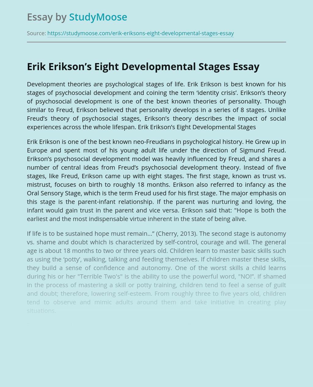 Erik Erikson's Eight Developmental Stages