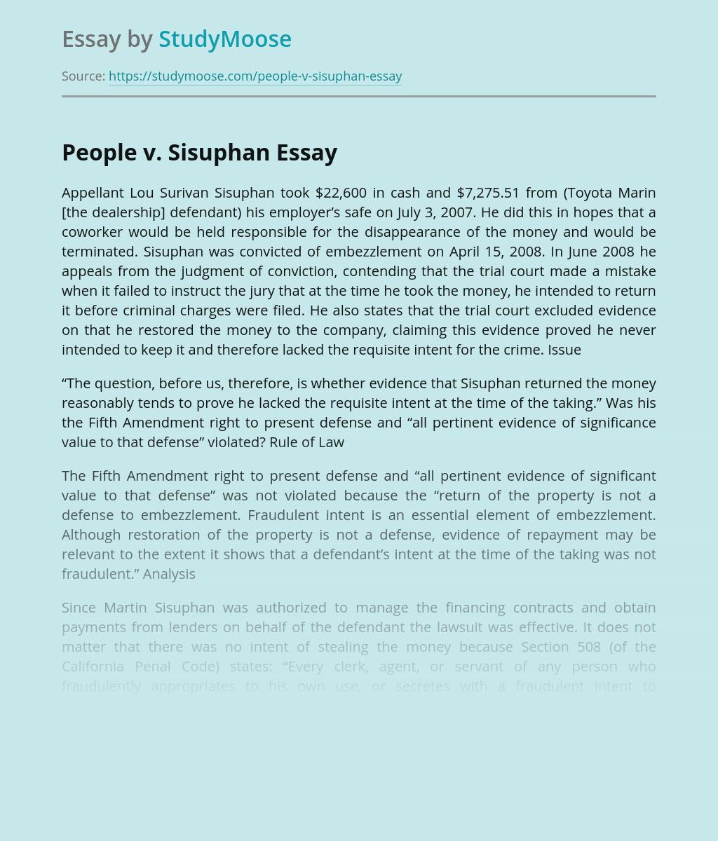 People v. Sisuphan