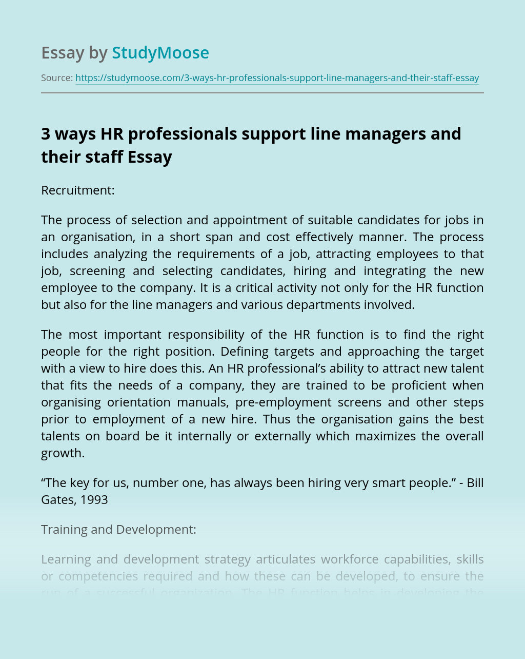 3 Ways HR Professionals Support Line Managers and Their Staff