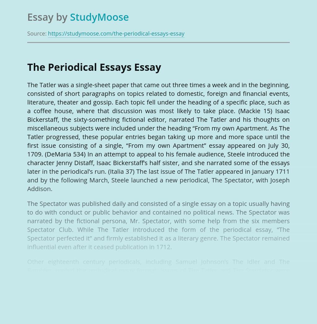 The Periodical Essays