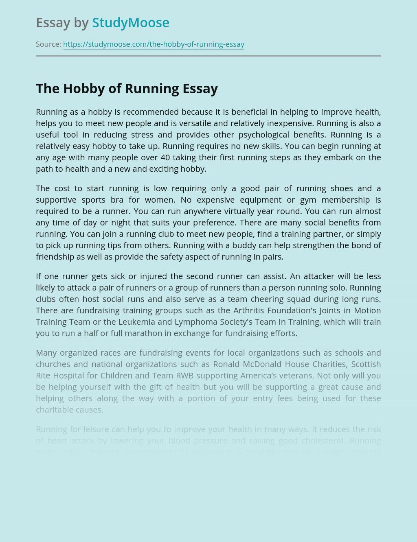 The Hobby of Running