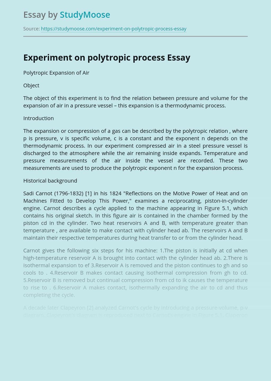 Experiment on polytropic process