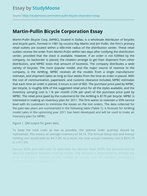 Martin-Pullin Bicycle Corporation