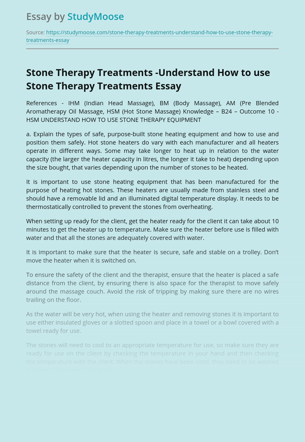 Stone Therapy Treatments -Understand How to use Stone Therapy Treatments