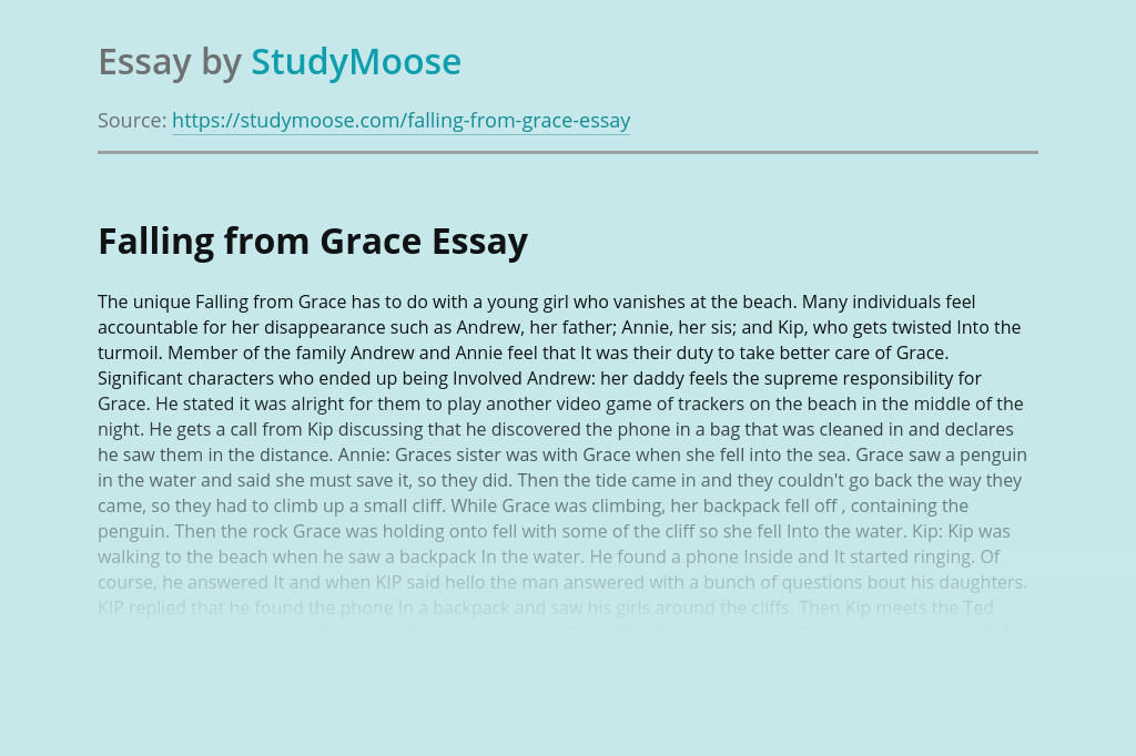 Falling From Grace Analysis