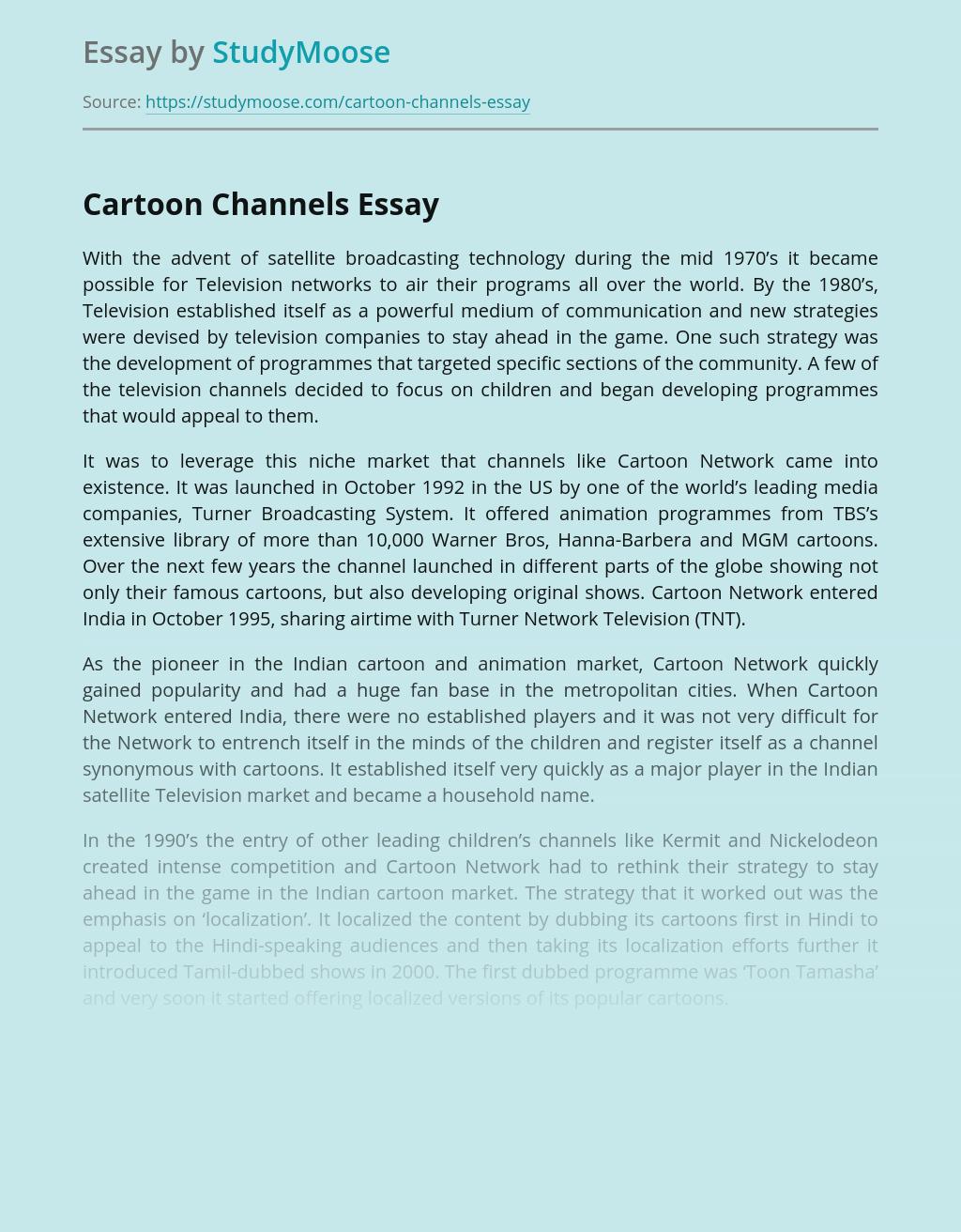 Cartoon Channels