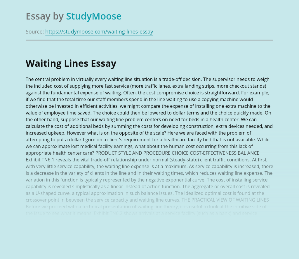 The Structure of a Waiting-Line System
