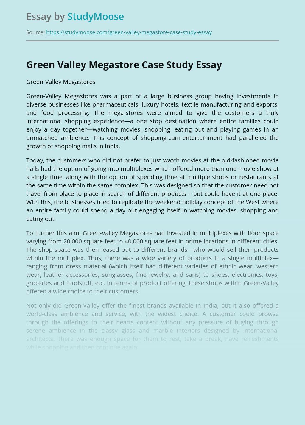 Green Valley Megastore Case Study