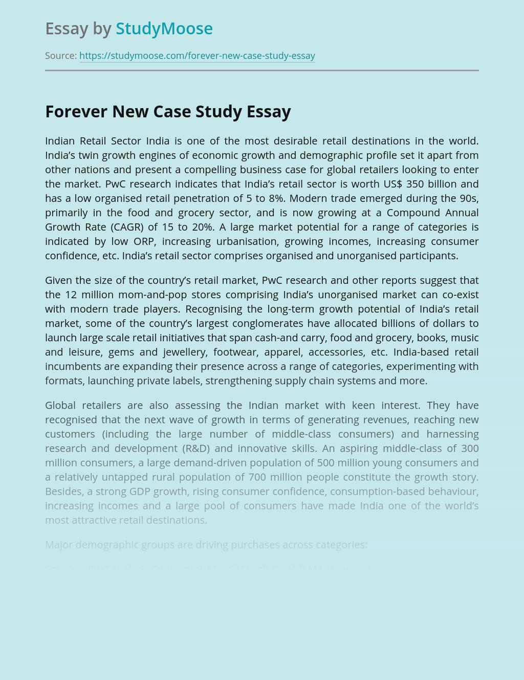 Forever New Case Study