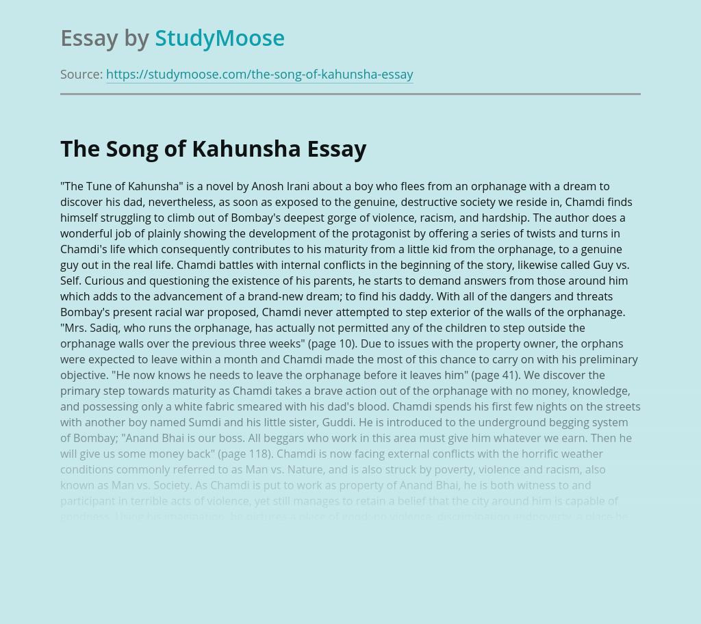 The Tune of Kahunsha by Anosh Irani