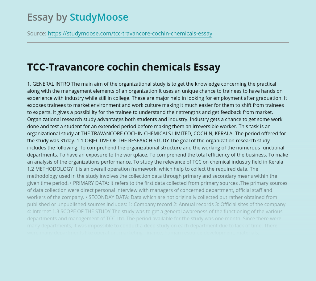 TCC-Travancore Cochin Chemicals