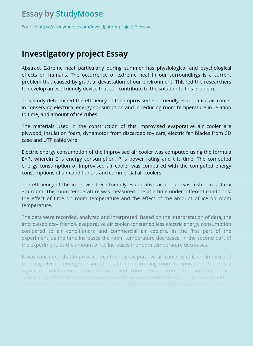 Investigatory Project on Eco-Friendly Product