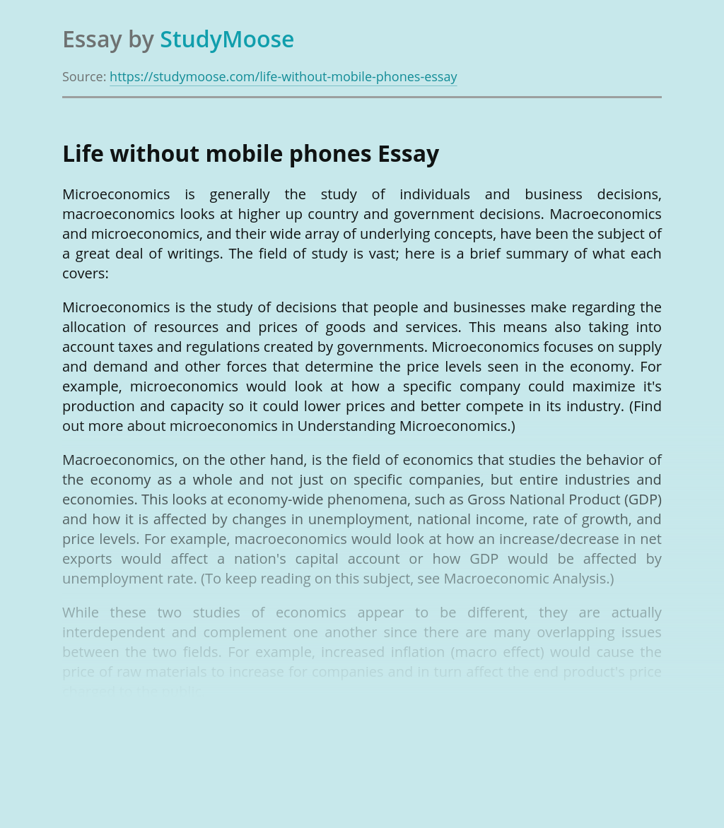 Life without mobile phones
