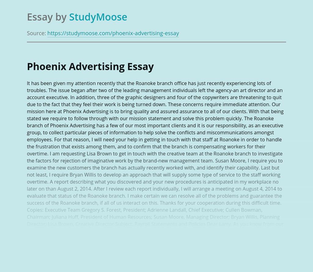 Phoenix Advertising