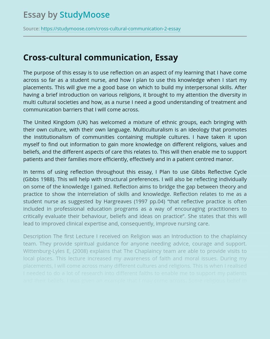 Cross-cultural communication,